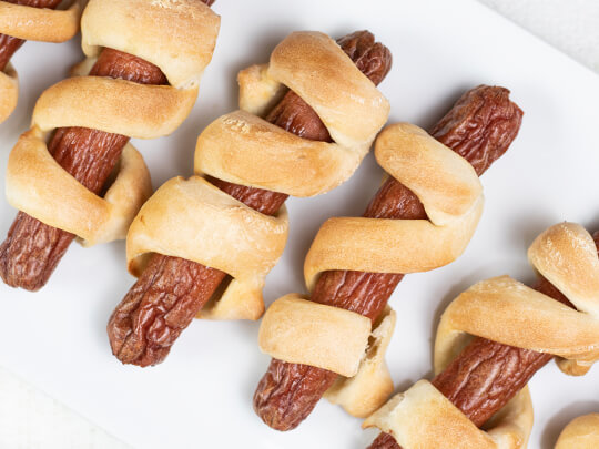 Pizza Dough Dogs