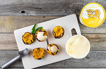 Blake's Grilled Peaches with Vanilla Ice Cream