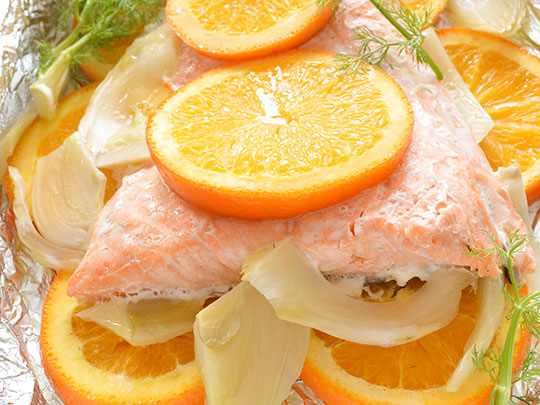 salmon orange fennel