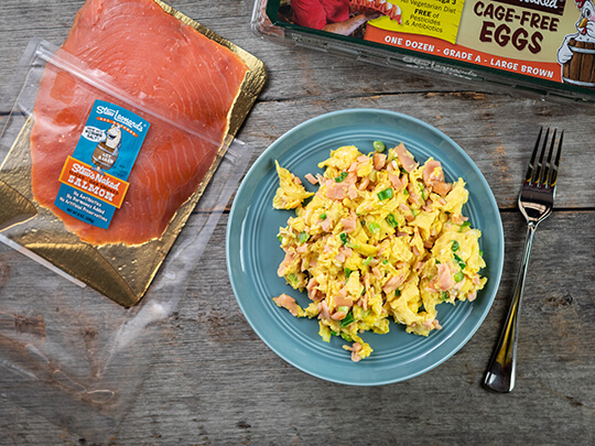 Stew Leonard's NAKED Scrambled Eggs with Salmon and Scallions