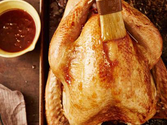 Turkey with Citrus Herb Butter and Apricot Glaze