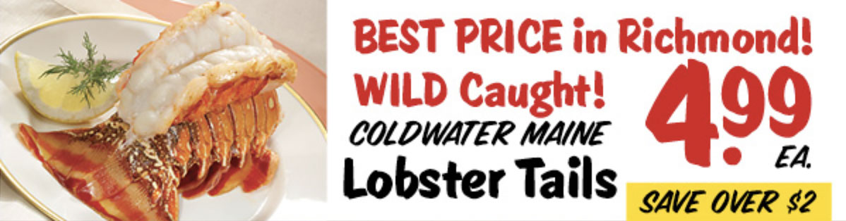 $4.99 Cold Water Main Lobster Tails